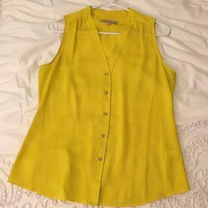Banana Republic Yellow Sleeveless Blouse